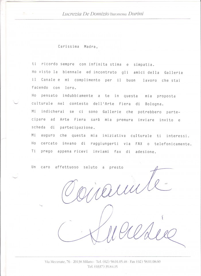 letter from LDDurini