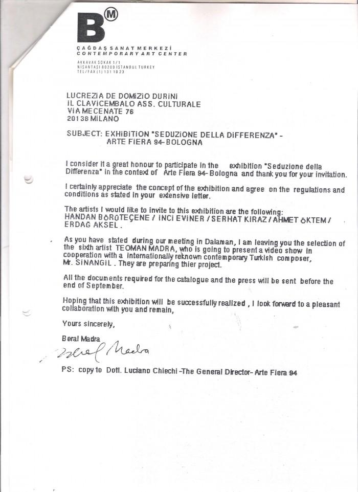 letter of presentation