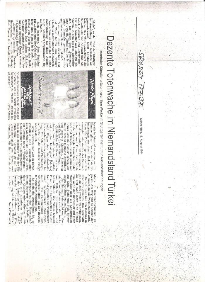 südwestpresse-18 august 1994