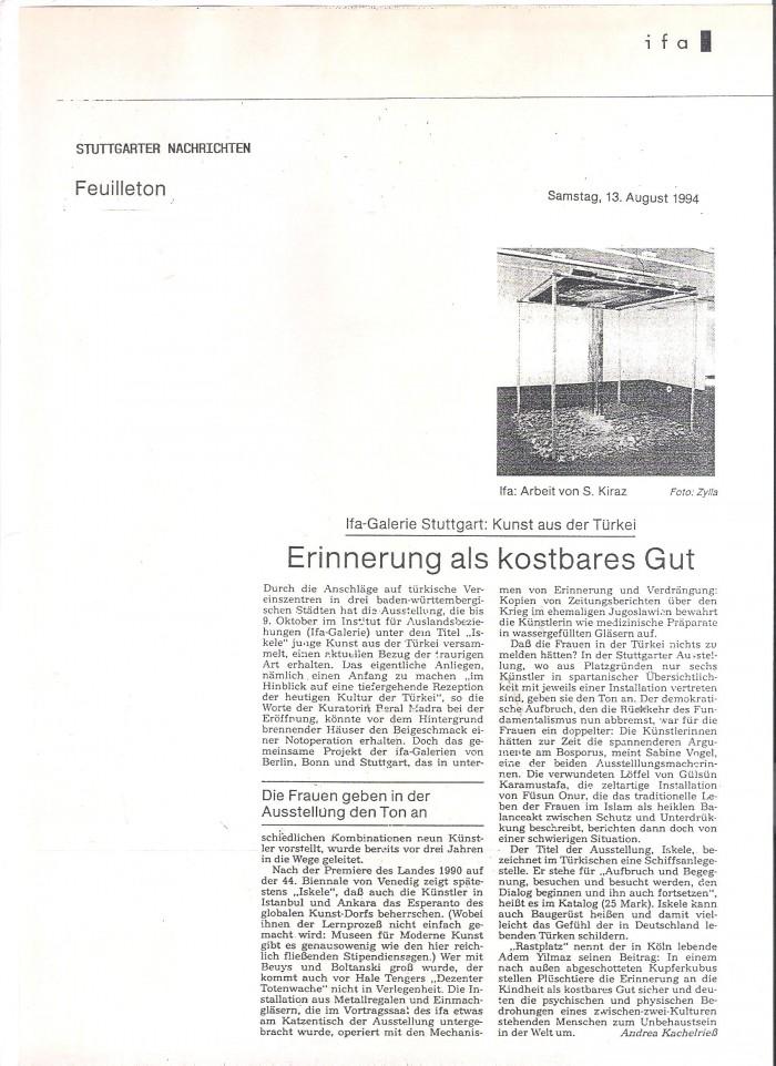 stuttgarter nachrichten-13 august 1994