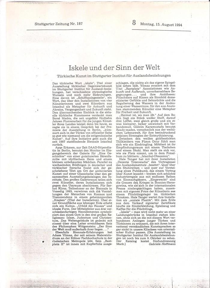stuttgarter zeitung-15 august 1994