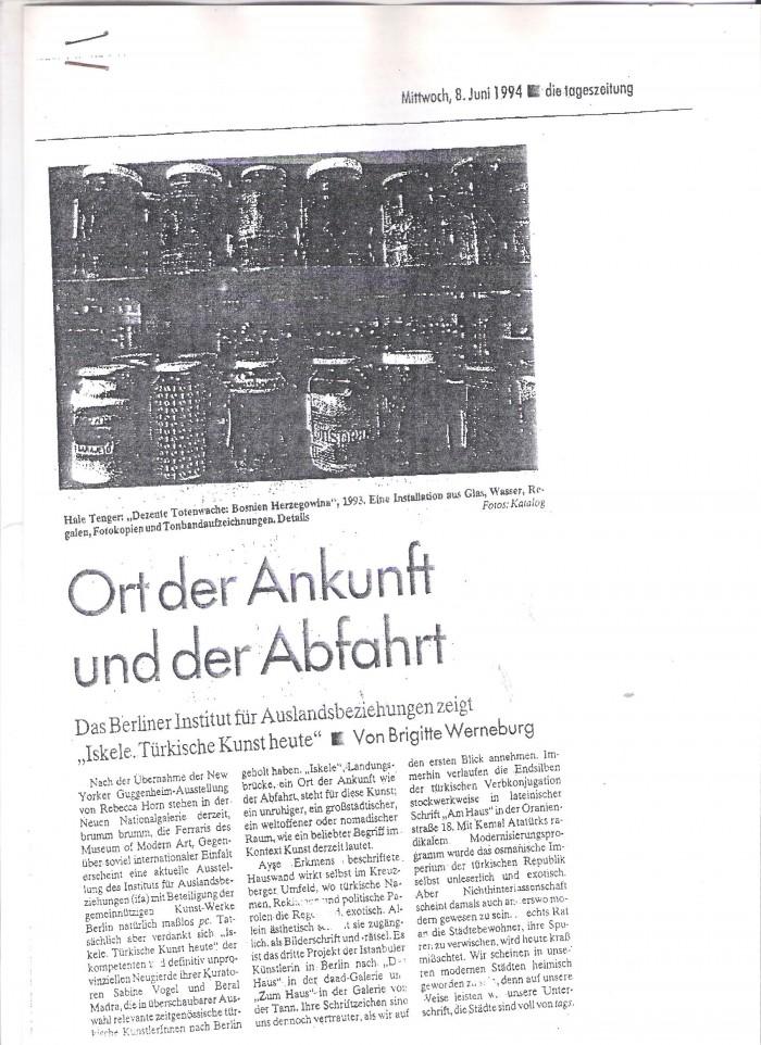 tageszeitung-8 june 1994