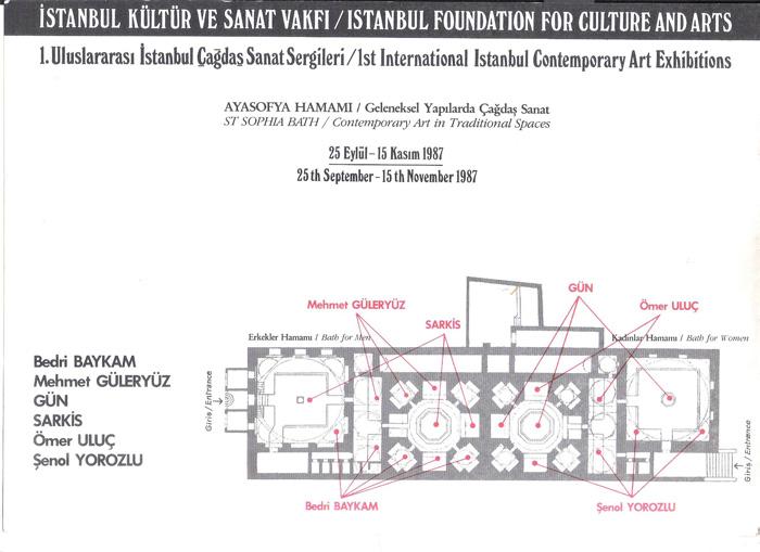 Mimar Sinan hamamı 25 September - 15 November 1987