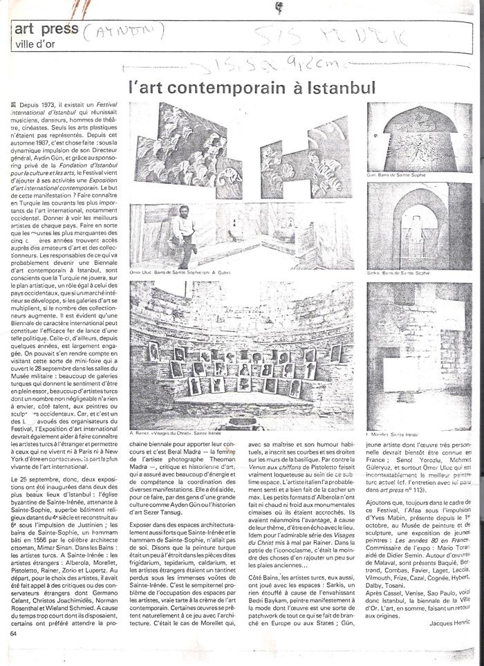 Artpress November 1987
